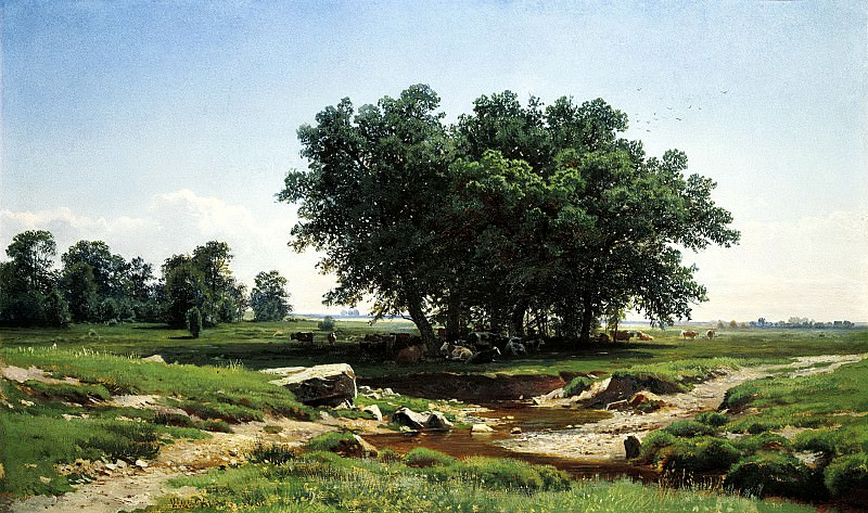 Shishkin Ivan - Dubky. 900 Classic russian paintings