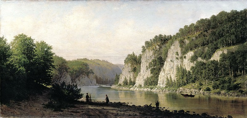 VERESHCHAGIN Peter - Stone write on the river Chusovoi. 900 Classic russian paintings