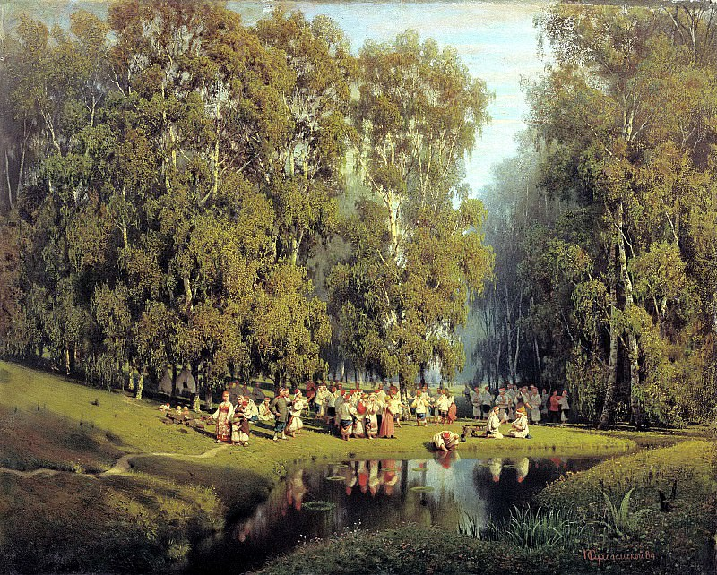 Sukhodolskiy Peter - Whitsunday. 900 Classic russian paintings