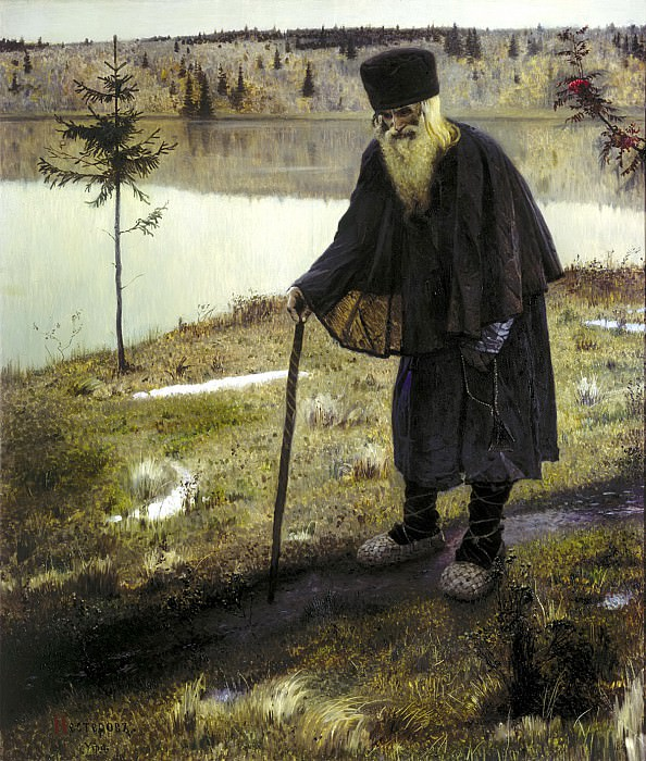Nesterov Mikhail - Hermit. 900 Classic russian paintings