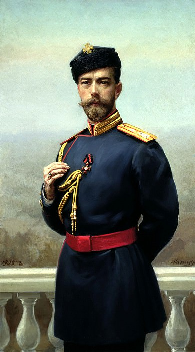 Manizer Henry - Emperor Nicholas II with the Order of St. Vladimir. 900 Classic russian paintings