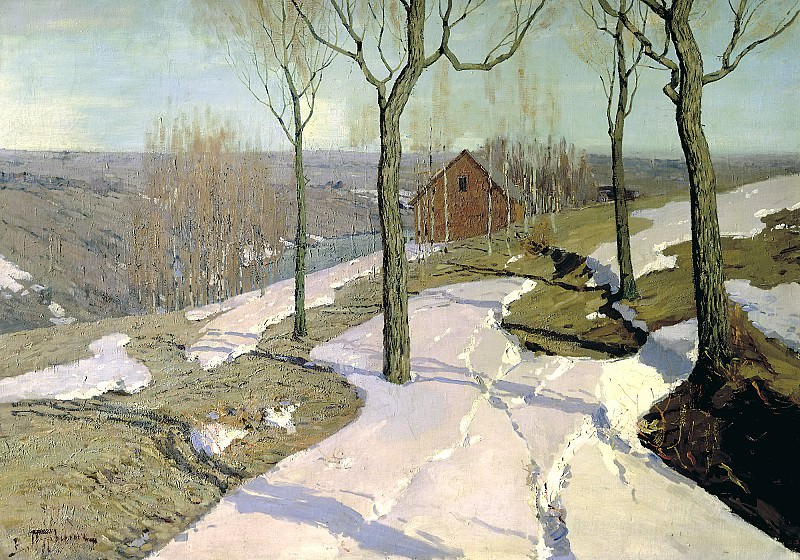 Purva Wilhelm - Last Snow. 900 Classic russian paintings