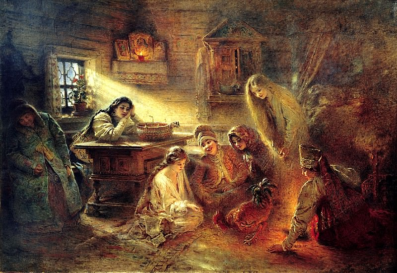 MAKOVSKY Constantine - the Christmas divination. 900 Classic russian paintings