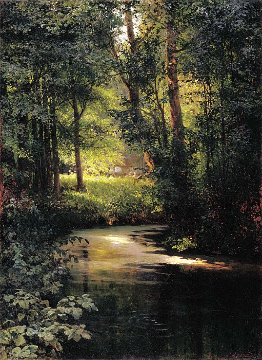 Miasoyedov Gregory - Forest Stream. Spring. 900 Classic russian paintings