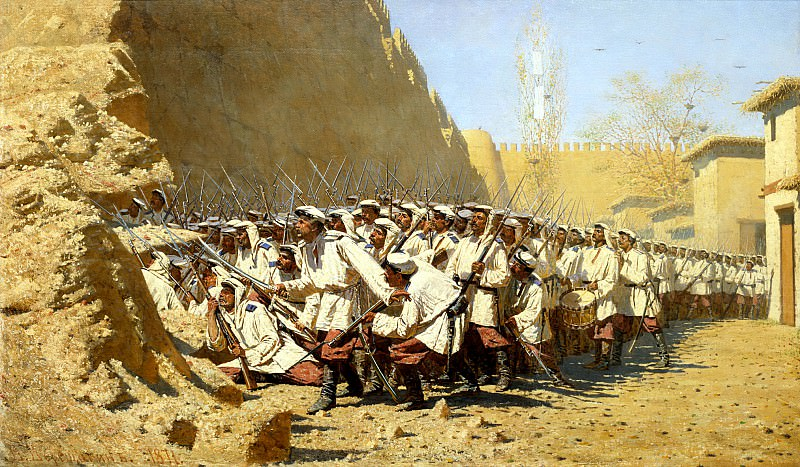 Vereshchagin Vasily (Vasilyevich) - In the castle wall. Let the will. 900 Classic russian paintings