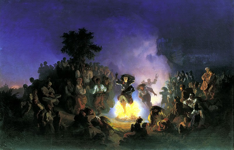 SOKOLOV Ivan - Night of Ivan Kupala-. 900 Classic russian paintings