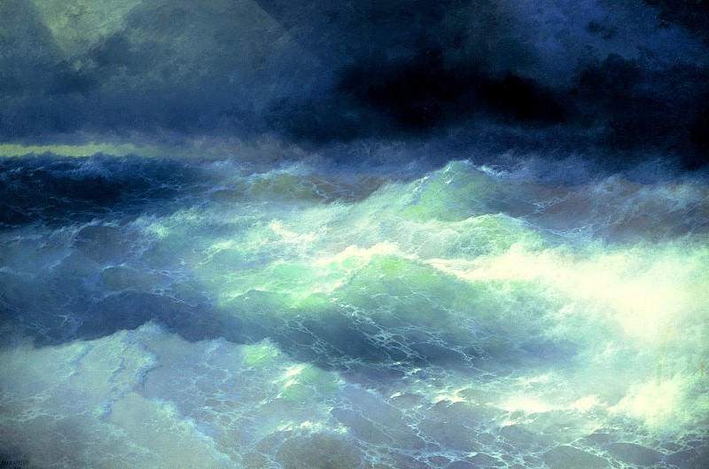Ivan Aivazovsky - Among the Waves. 900 Classic russian paintings