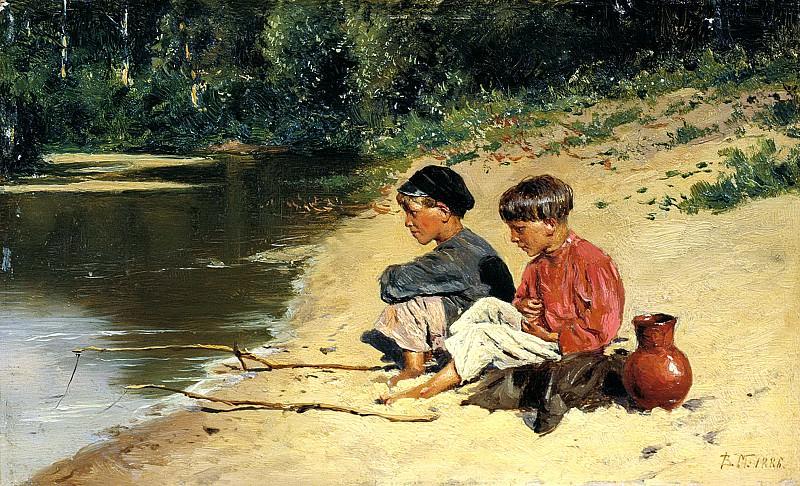 Makovsky Vladimir - fisher. 900 Classic russian paintings