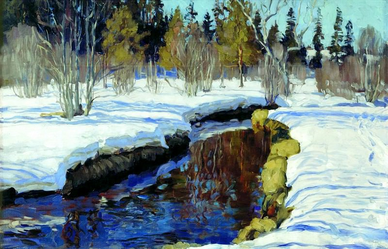 Zhukovsky Stanislav - Winter. 900 Classic russian paintings