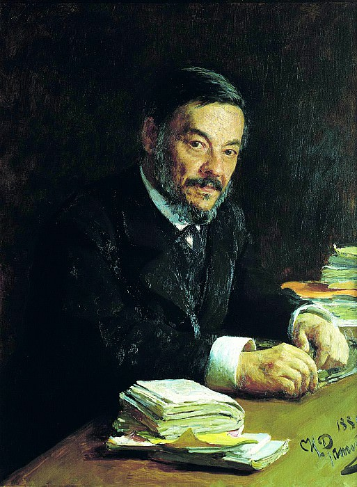 Ilya Repin - Portrait of Ivan Sechenov. 900 Classic russian paintings