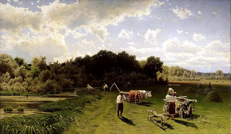 SERGEEV Nick - haymaking. 900 Classic russian paintings