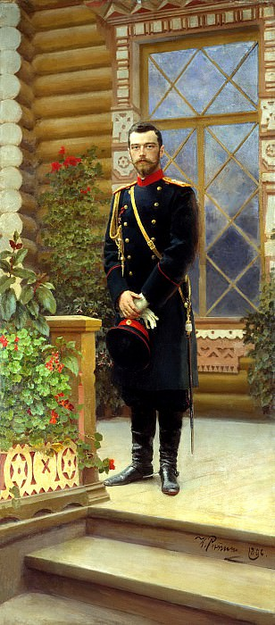 Ilya Repin - Portrait of Emperor Nicholas II. 1896. 900 Classic russian paintings