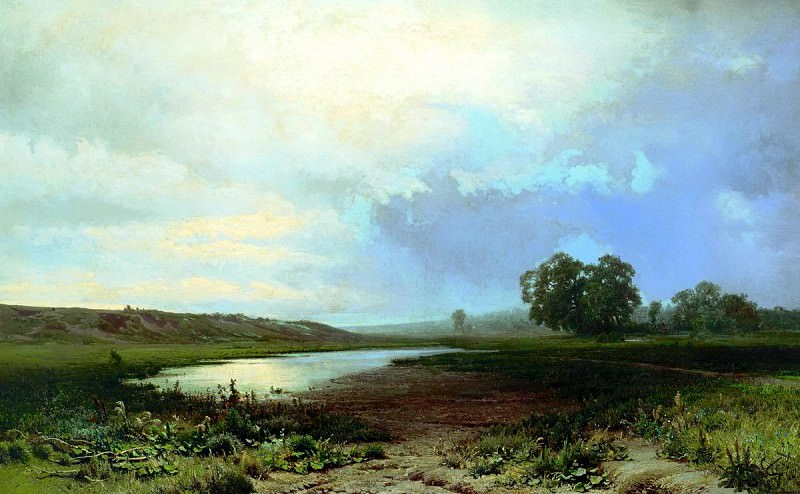 Fedor Vasiliev - Wet meadow. 900 Classic russian paintings