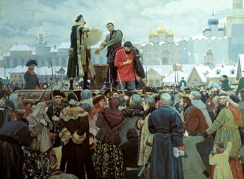 Matorin Victor - Execution of Pugachev. Forgive me, Orthodox people. 900 Classic russian paintings