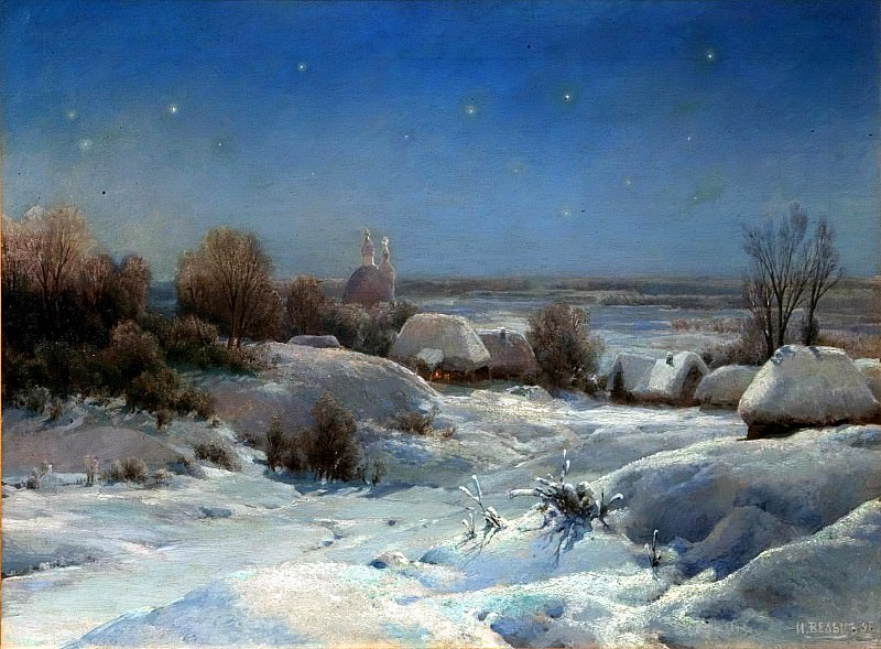 Welz Ivan - Ukrainian night. Winter. 900 Classic russian paintings