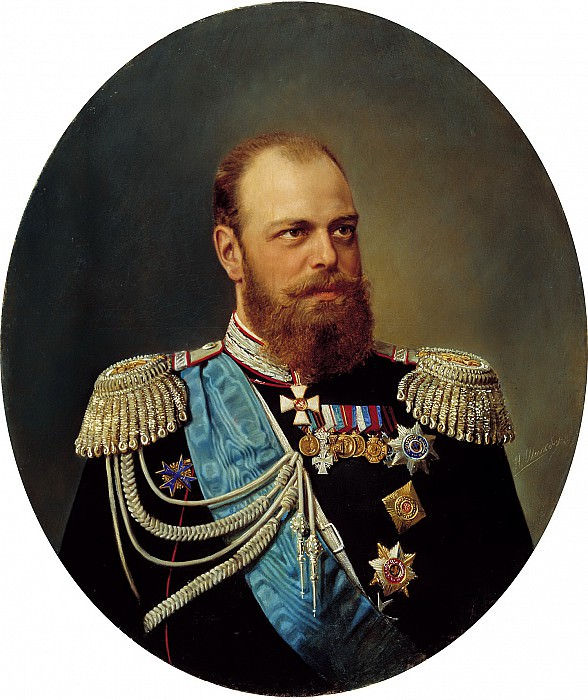 Schilder Andrew - Portrait of Alexander III. 900 Classic russian paintings