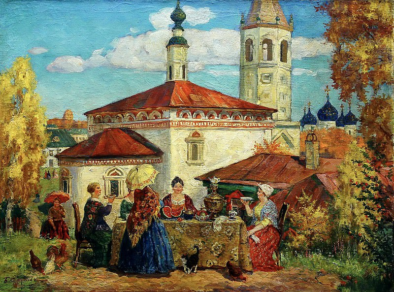 Kustodiyev Boris - In the old Suzdal. 900 Classic russian paintings