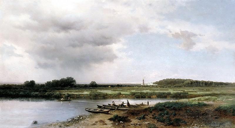 Brick Leo - View of the river Kazanka. 900 Classic russian paintings