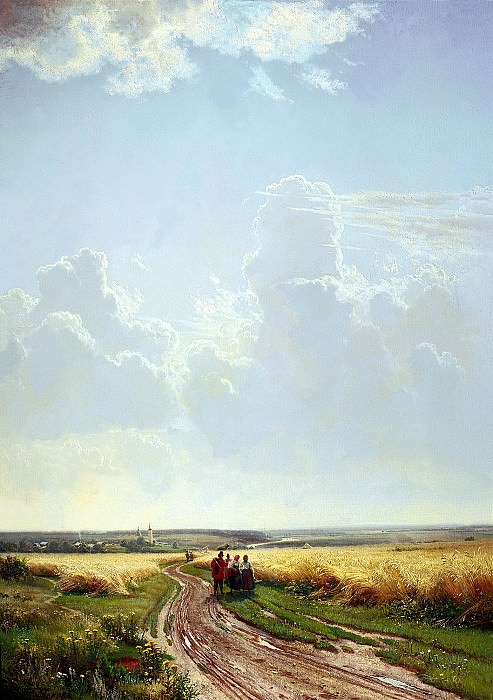 Shishkin Ivan - Noon. In the vicinity of Moscow. 900 Classic russian paintings