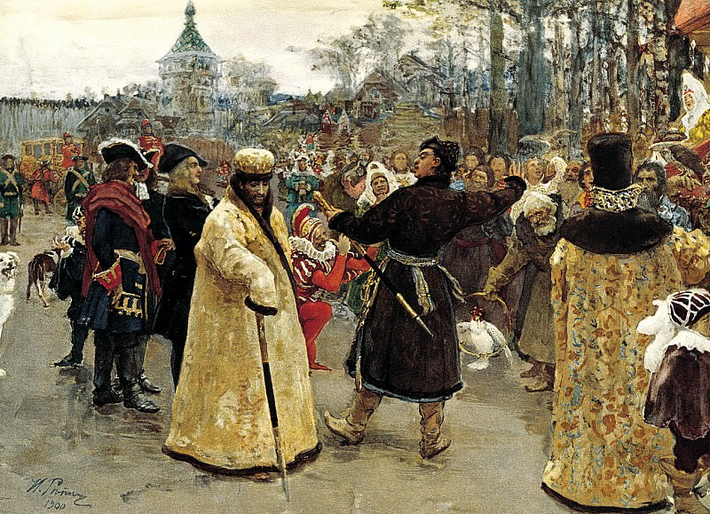 Ilya Repin - Arrival of the kings of John and Peter. 900 Classic russian paintings