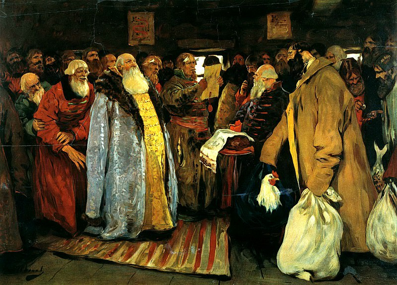 Ivan Sergei - Arrival of governor. 900 Classic russian paintings