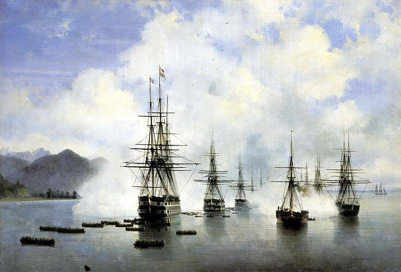 Ivan Aivazovsky - Marines NNRaevsky have Subashi. 900 Classic russian paintings