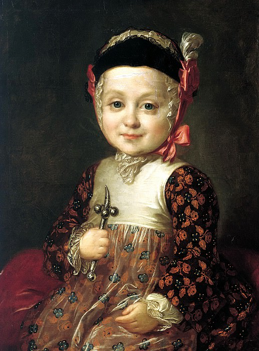Rocot Fyodor - Portrait of AG Bobrinsky in childhood. 900 Classic russian paintings