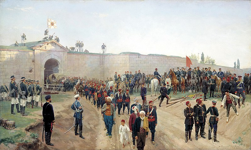 Nikolai Dmitriev-Orenburgsky - Delivery of the fortress of Nikopol July 4, 1877. 900 Classic russian paintings