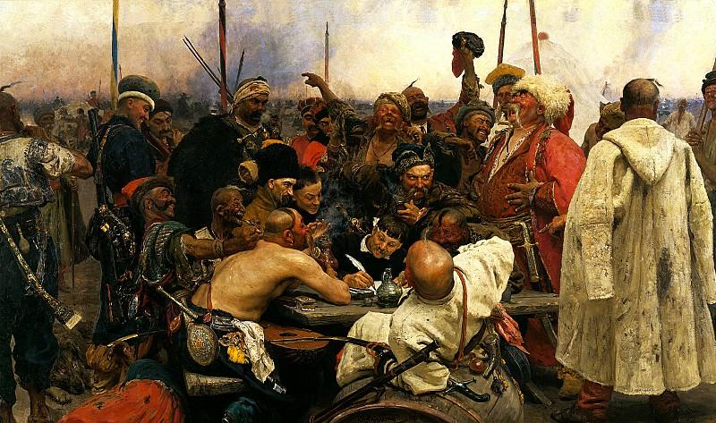 Ilya Repin - Zaporizzya.. 900 Classic russian paintings