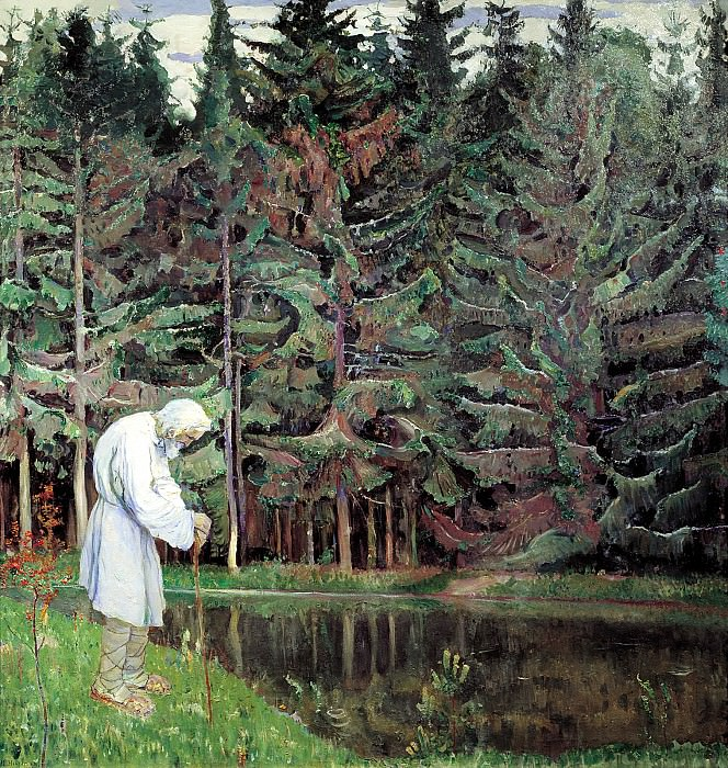 Nesterov Mikhail - old man - a servant of God. 900 Classic russian paintings