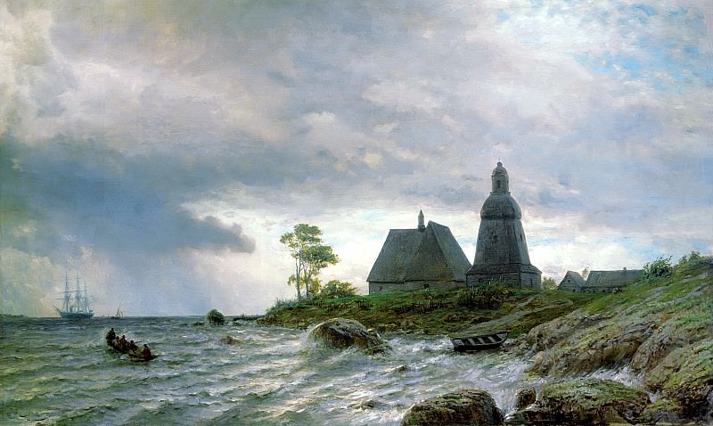 Lagorio Lev - Northern landscape. 900 Classic russian paintings