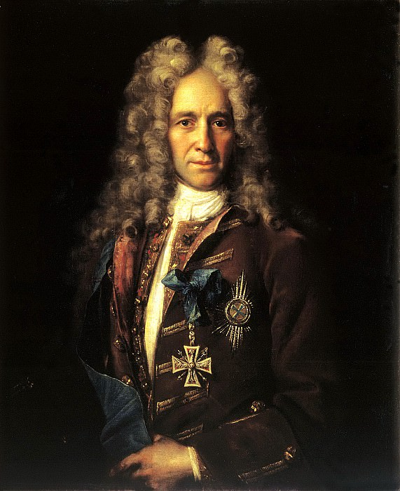NIKITIN Ivan - Portrait of State Chancellor Count Gavriil Ivanovich Golovkin. 900 Classic russian paintings