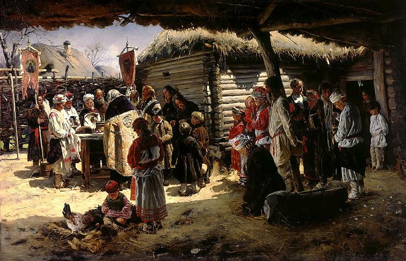 Makovsky Vladimir - Prayer for Easter. 900 Classic russian paintings