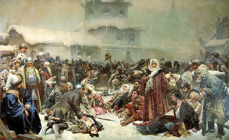 LEBEDEV Claudius - Martha Governors Wife. Destruction of the Novgorod veche. 900 Classic russian paintings
