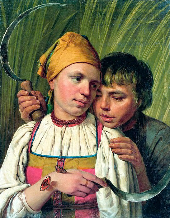 Venetsianov Alexei - Harvester. 900 Classic russian paintings
