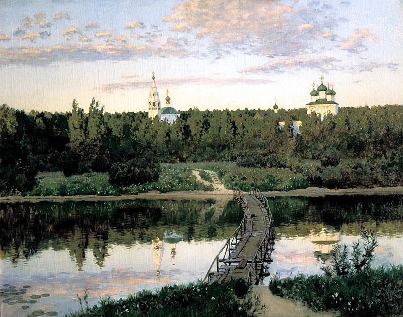 Isaak Levitan - Quiet Monastery. 900 Classic russian paintings