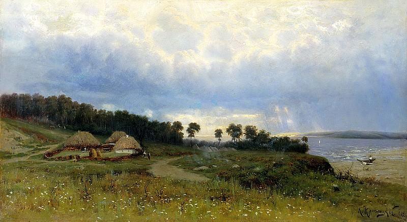 Kryzhitsky Constantine - Before the rain. 900 Classic russian paintings