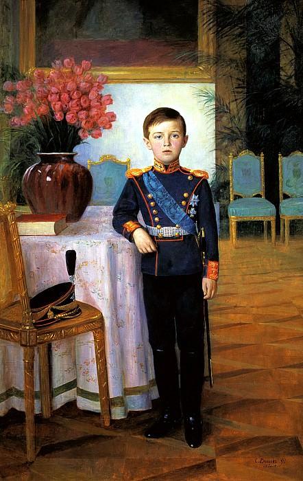 EGORNOV Sergey - Tsarevich Alexei Nikolaevich. 900 Classic russian paintings
