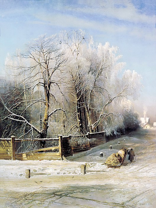 Alexei Savrasov - Winter landscape. 900 Classic russian paintings