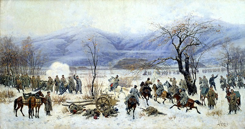 KIVSHENKO Alexei - Battle of Shipka-Sheinovo December 28, 1877. 900 Classic russian paintings