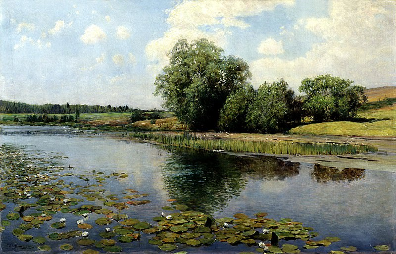 Ostrouhov Ilya - River at noon. 900 Classic russian paintings