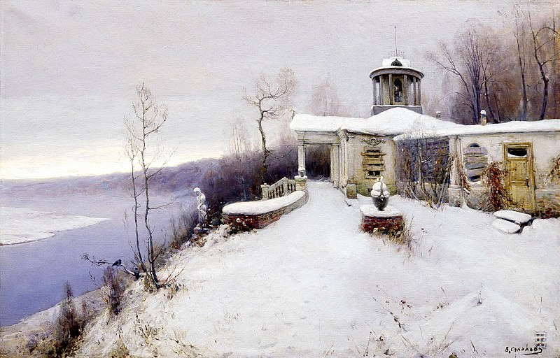 SOKOLOV Vladimir - Abandoned Farmstead. 900 Classic russian paintings