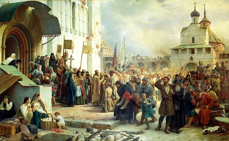 Vereshchagin Vasily (Petrovich) - The Siege of the Trinity-Sergius Lavra. 900 Classic russian paintings