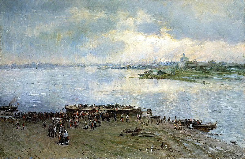 MAKOVSKY Alexander - Transportation on the Volga. 900 Classic russian paintings