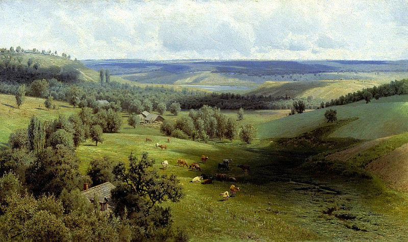 SERGEEV Nick - Summer landscape. 900 Classic russian paintings