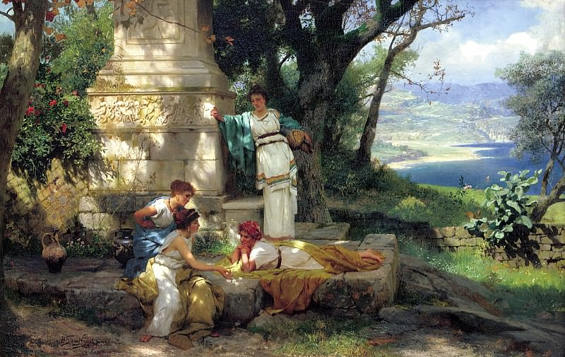 Semiradsky Henry - Dice. 900 Classic russian paintings