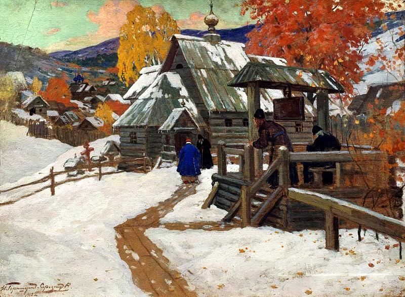 Goryushkin-Sorokopudov Ivan - Skeet. 1912. 900 Classic russian paintings