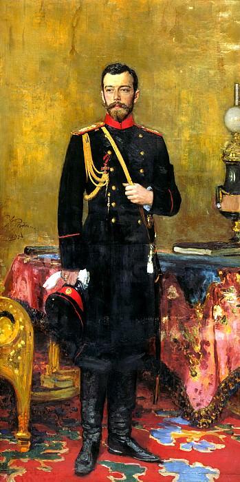 Ilya Repin - Nicholas II. 900 Classic russian paintings