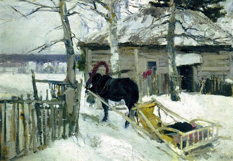 Konstantin Korovin - Winter. 900 Classic russian paintings