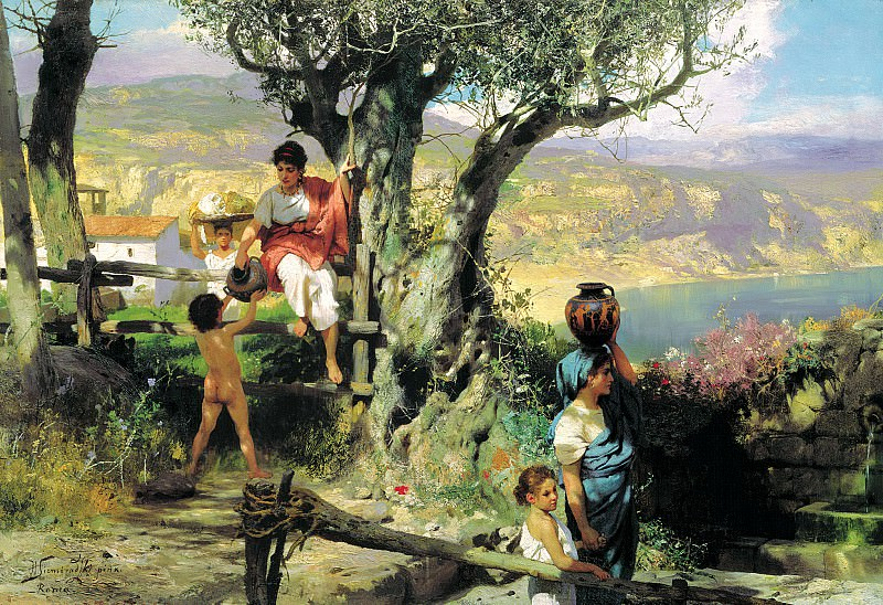 Semiradsky Henry - Rome. Village. 900 Classic russian paintings